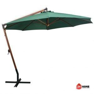 Висящ-чадър-за-слънце-350-см-дървен-прът-зелен-SUNNY-6