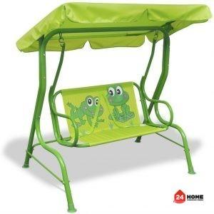 Люлка-за-деца-115х75х110-см-зелена-SUNNY-5