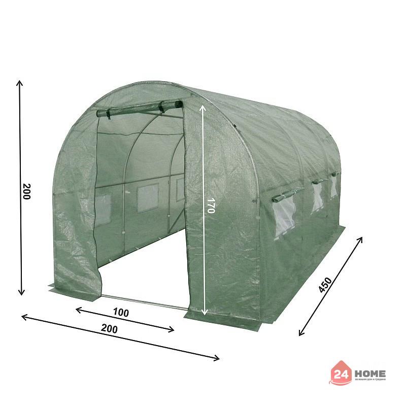 Оранжерия-SUNNY-9m2-premium-зелена-2x45m