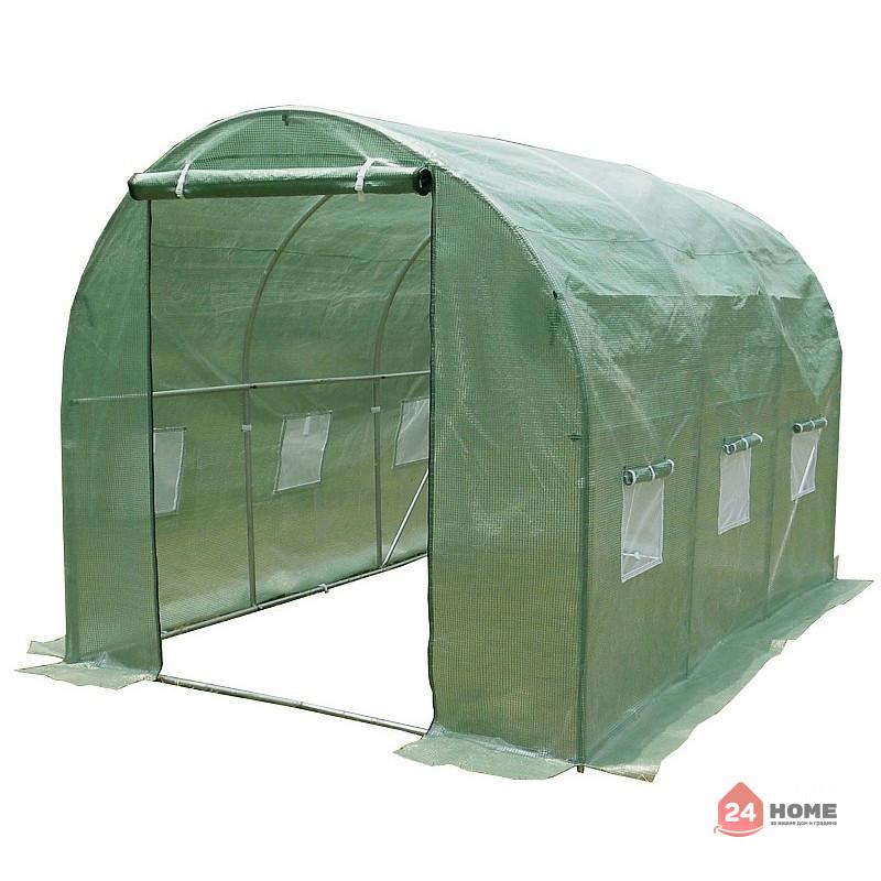 Оранжерия-SUNNY-9m2-premium-зелена-2x45m10