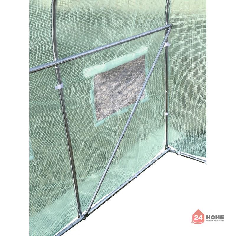 Оранжерия-SUNNY-9m2-premium-зелена-2x45m3