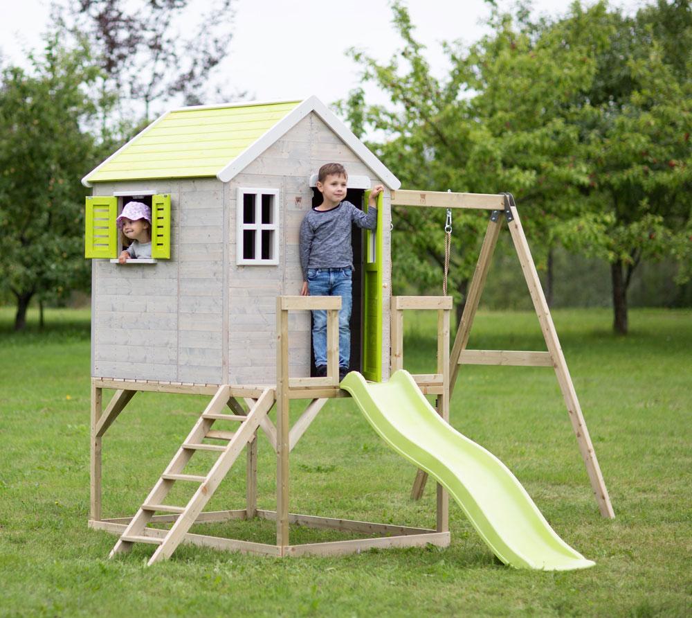 Детска-къща-Summer-Adventure-с-тераса-пързалка-и-люлка-M24L-3