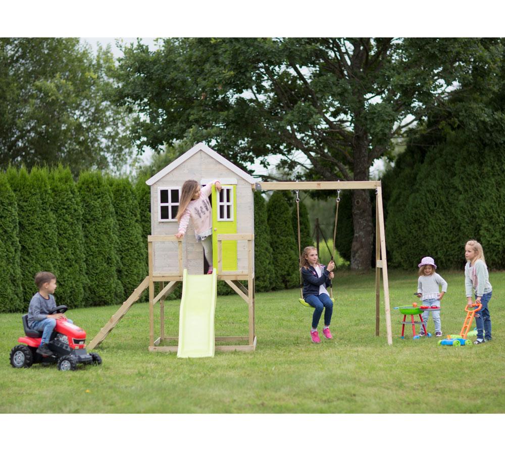 Детска-къща-Summer-Adventure-с-тераса-пързалка-и-люлка-M24L-4