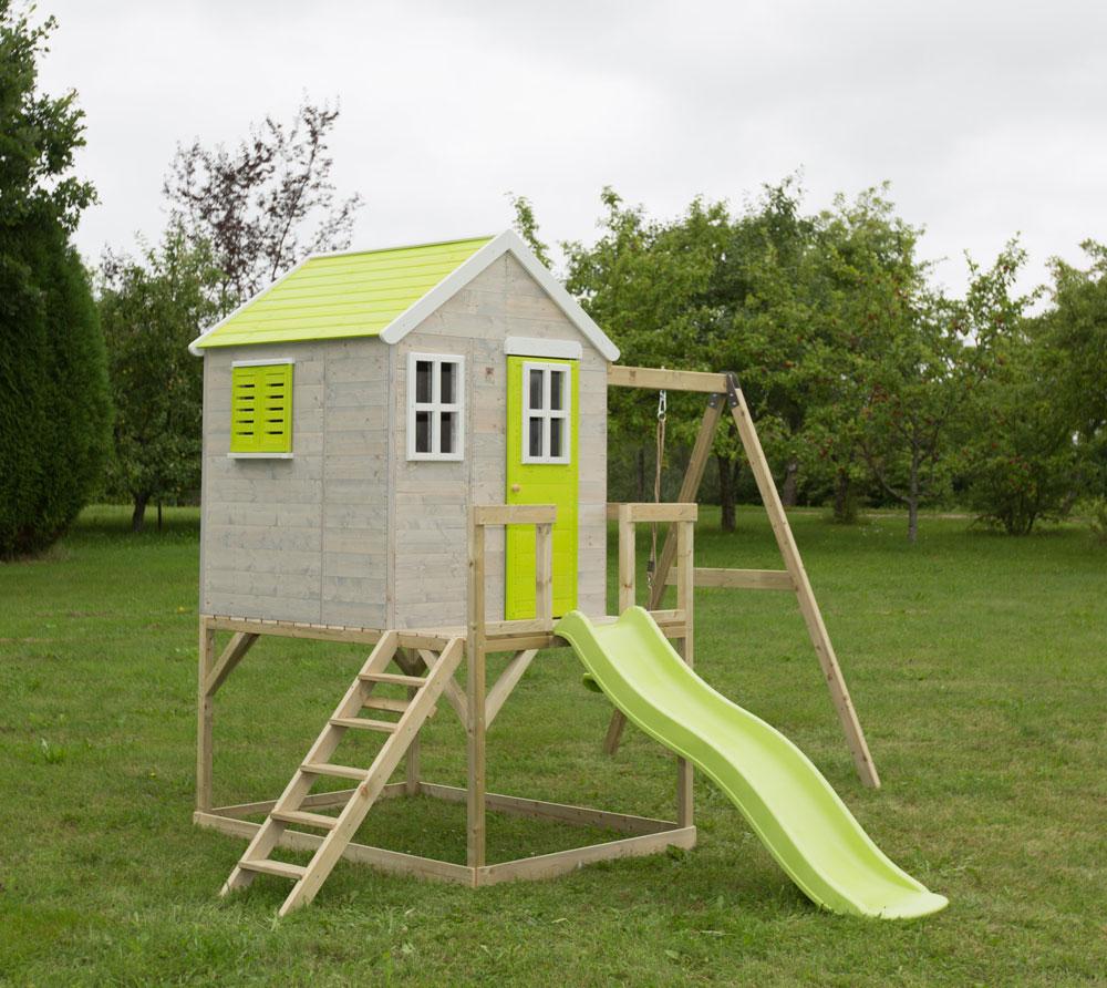 Детска-къща-Summer-Adventure-с-тераса-пързалка-и-люлка-M24L-5