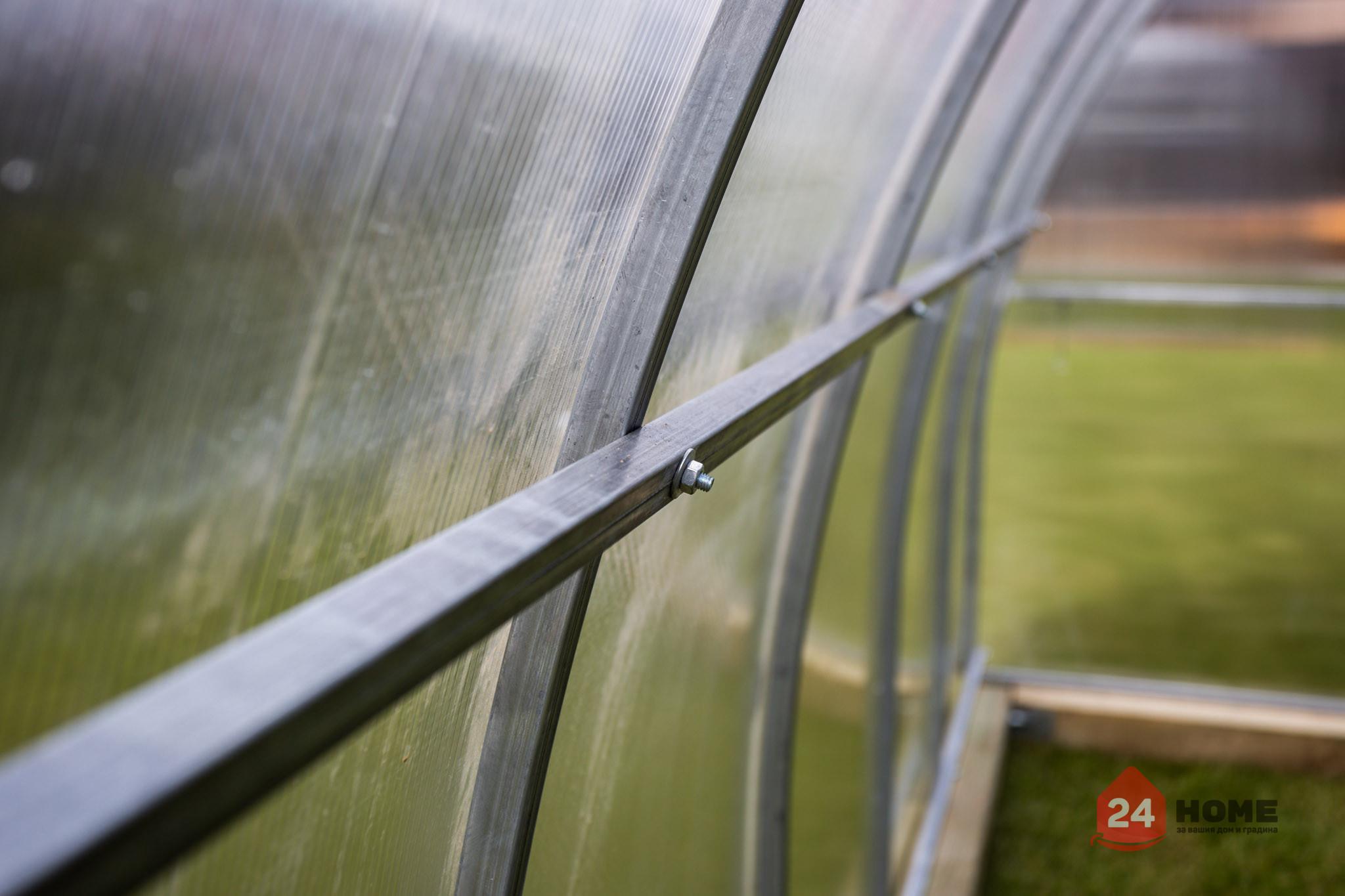 Оранжерия-SUNNY-Classic-покритие-от-поликарбонат-стоманена-конструкция-3x4-м-напречни-греди