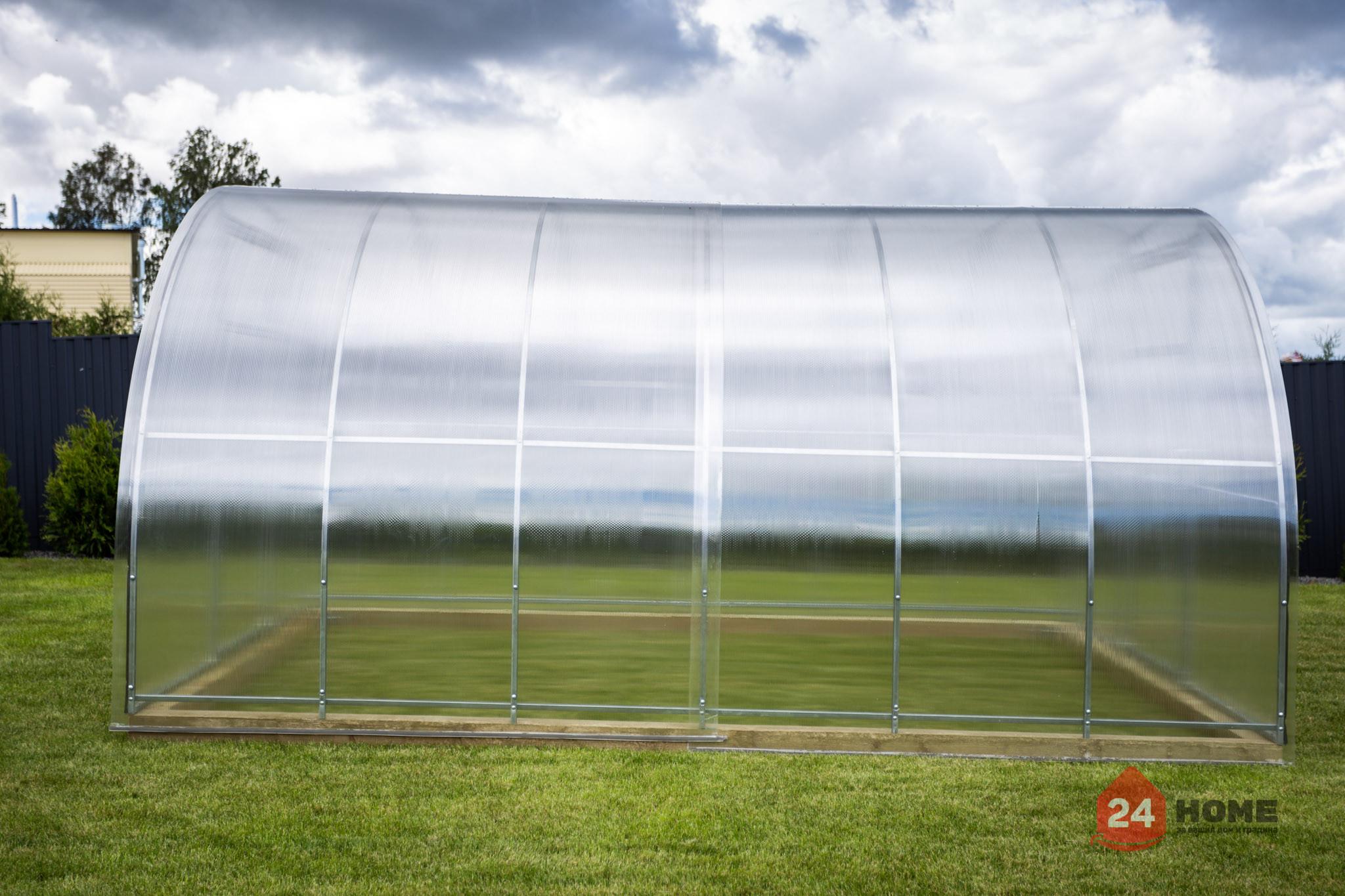 Оранжерия-SUNNY-Classic-покритие-от-поликарбонат-стоманена-конструкция-3x4-м-отстрани