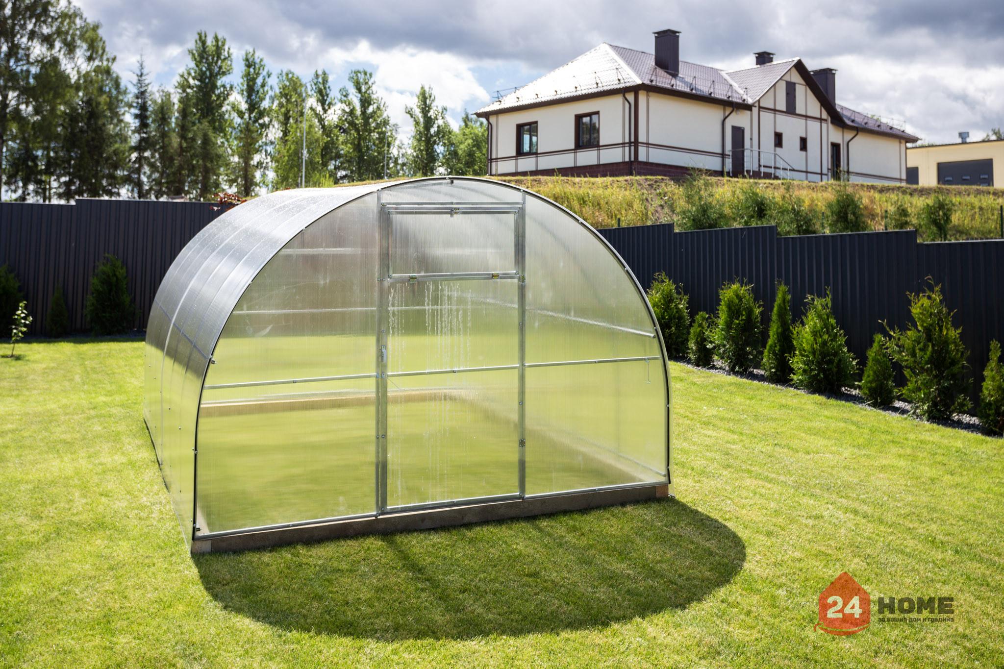 Оранжерия-SUNNY-Classic-покритие-от-поликарбонат-стоманена-конструкция-3x4-м