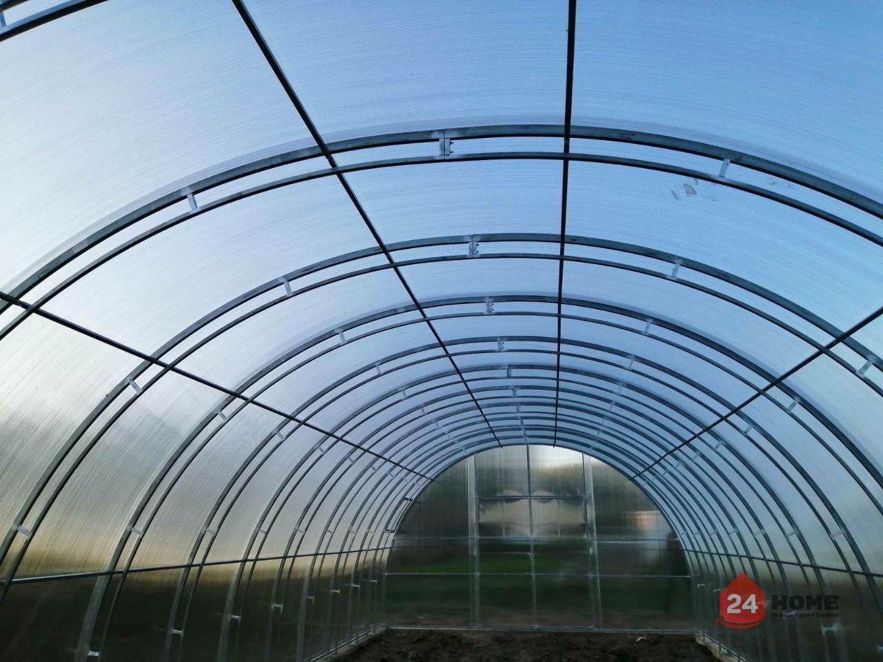 Оранжерия-SUNNY-Mega-покритие-от-поликарбонат-стоманена-конструкция-5x4-м-отвътре-дъги