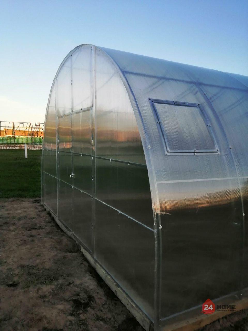 Оранжерия-SUNNY-Mega-покритие-от-поликарбонат-стоманена-конструкция-5x4-м-отстрани