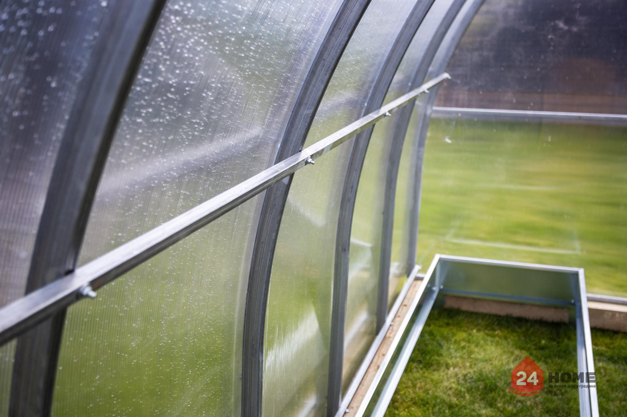 Оранжерия-SUNNY-Strong-покритие-от-поликарбонат-стоманена-конструкция-3x4-м-напречна-греда-острани