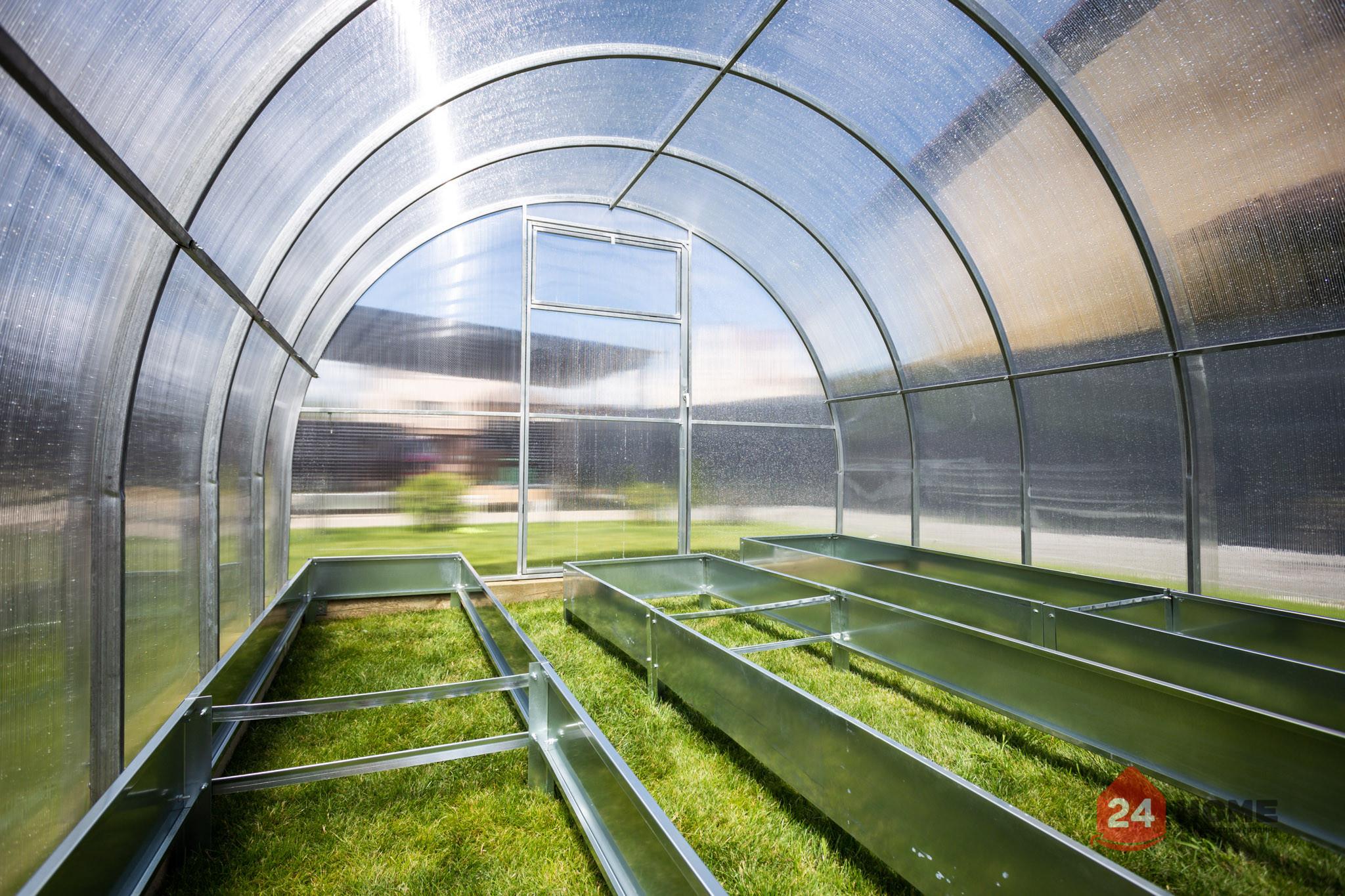 Оранжерия-SUNNY-Strong-покритие-от-поликарбонат-стоманена-конструкция-3x4-м-отвъртре