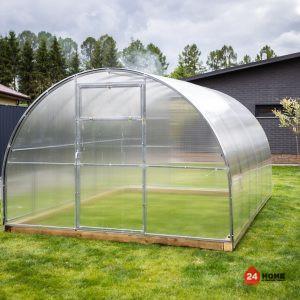 Оранжерия-SUNNY-Strong-покритие-от-поликарбонат-стоманена-конструкция-3×4-м-отдясно-челен-панел