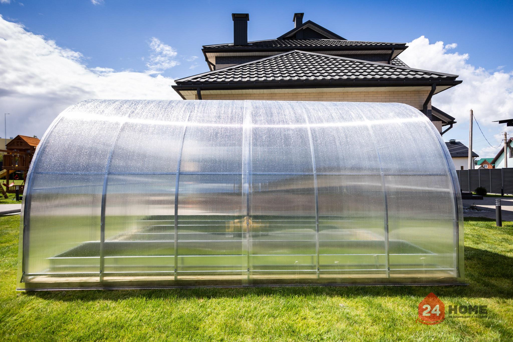 Оранжерия-SUNNY-Strong-покритие-от-поликарбонат-стоманена-конструкция-3x4-м-отстрани