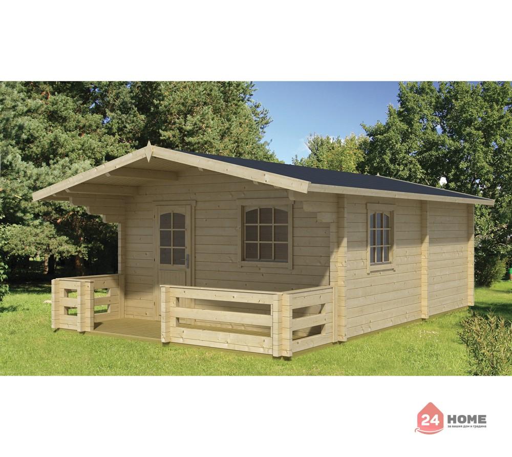 Дървена-къща-Елба-5х7-м-44-мм-натурално-дърво-1
