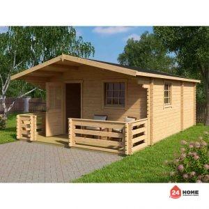 Дървена-къща-Елба-5х7-м-44-мм-натурално-дърво-2