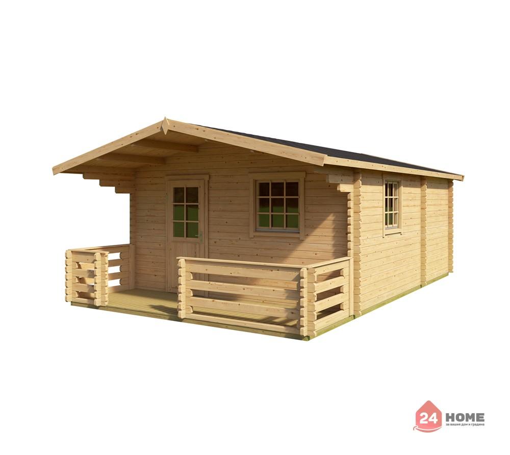 Дървена-къща-Елба-5х7-м-44-мм-натурално-дърво