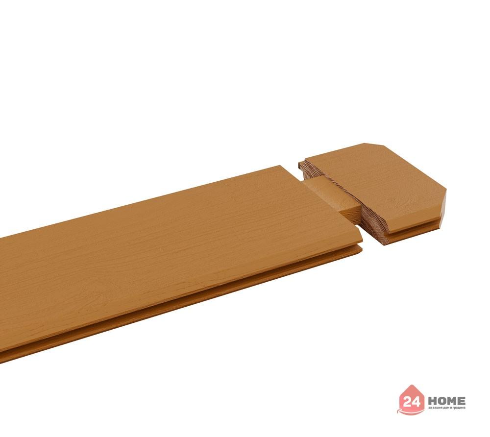Дървена-къща-Елба-5х7-м-44-мм-цвят-дъб