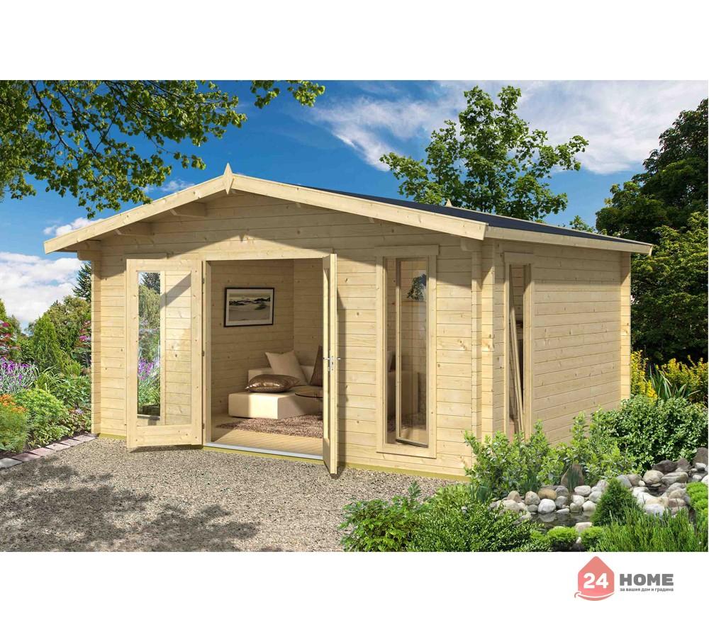 Дървена-къща-Елгин-5х4-44-мм-натурално-дърво-1