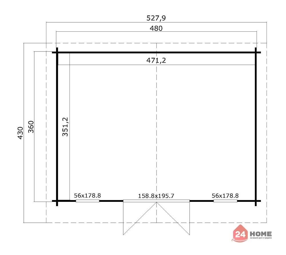 Дървена-къща-Елгин-5х4-44-мм-схема