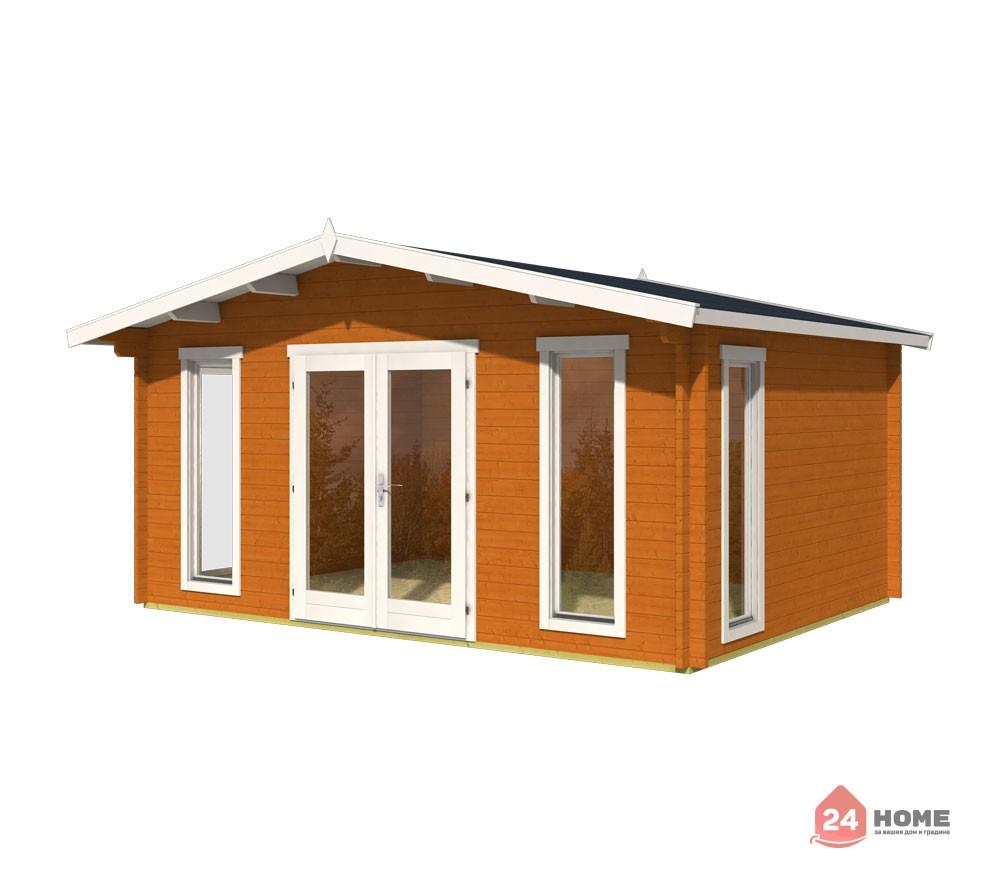 Дървена-къща-Елгин-5х4-44-мм-цвят-дъб-1