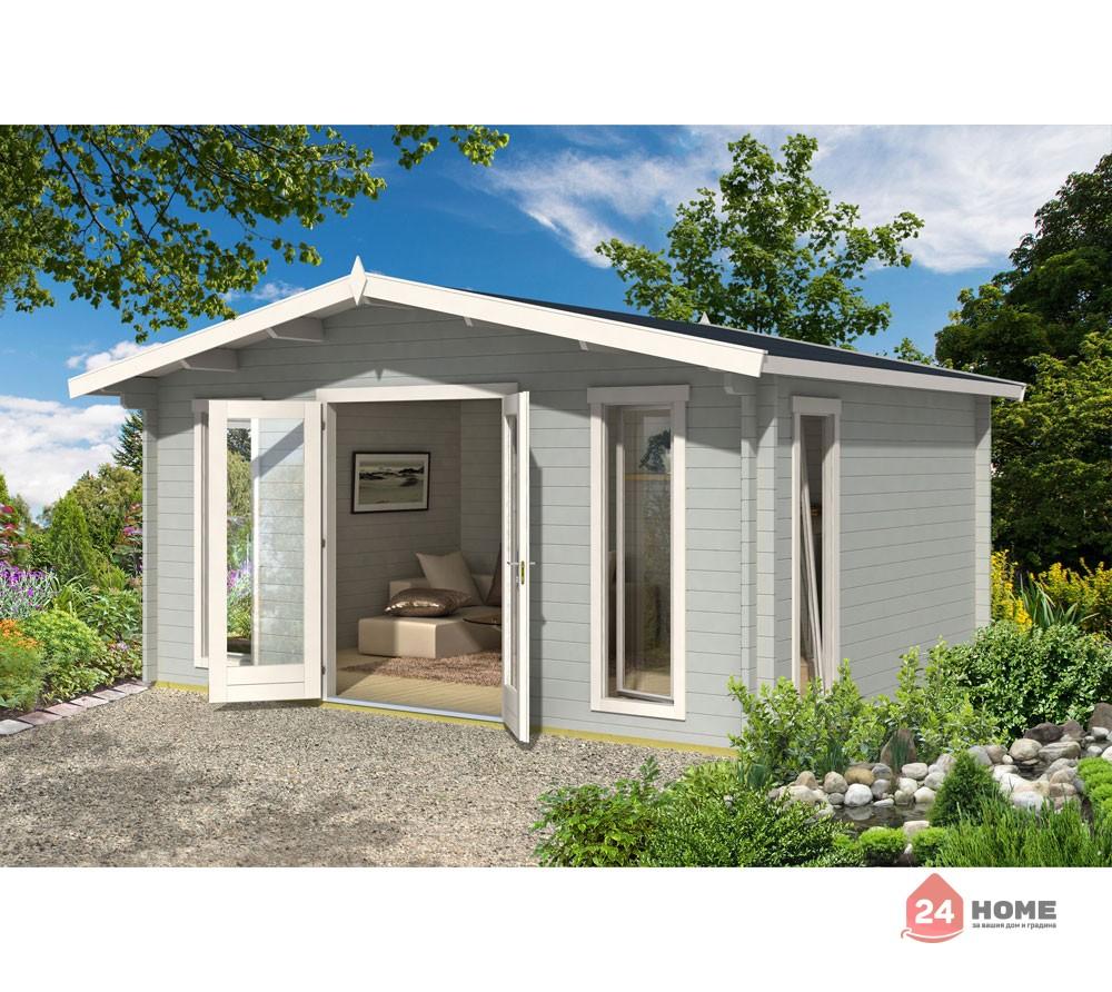 Дървена-къща-Елгин-5х4-44-мм-цвят-светло-син