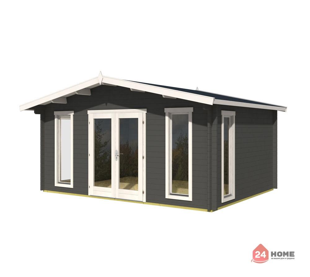 Дървена-къща-Елгин-5х4-44-мм-цвят-сив-карбон-1