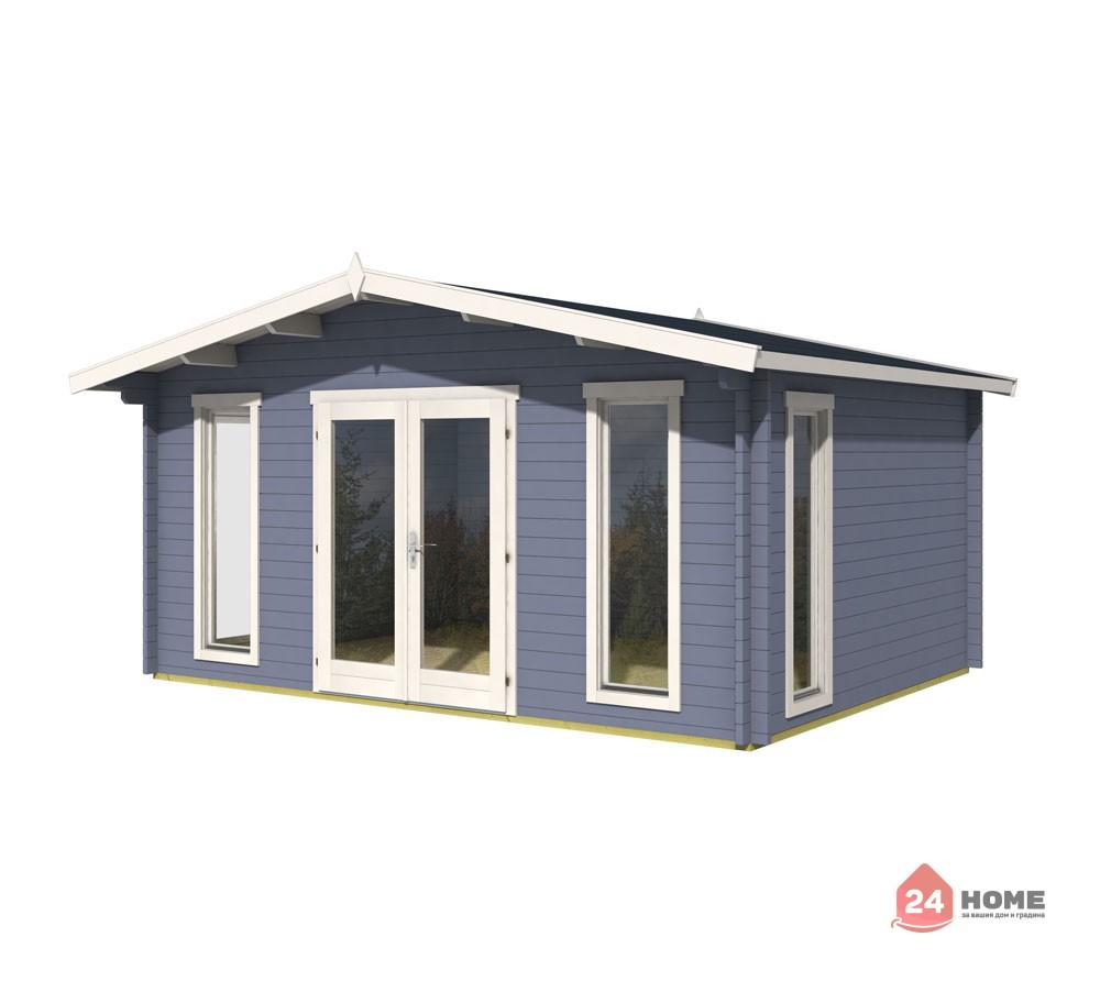Дървена-къща-Елгин-5х4-44-мм-цвят-син-1