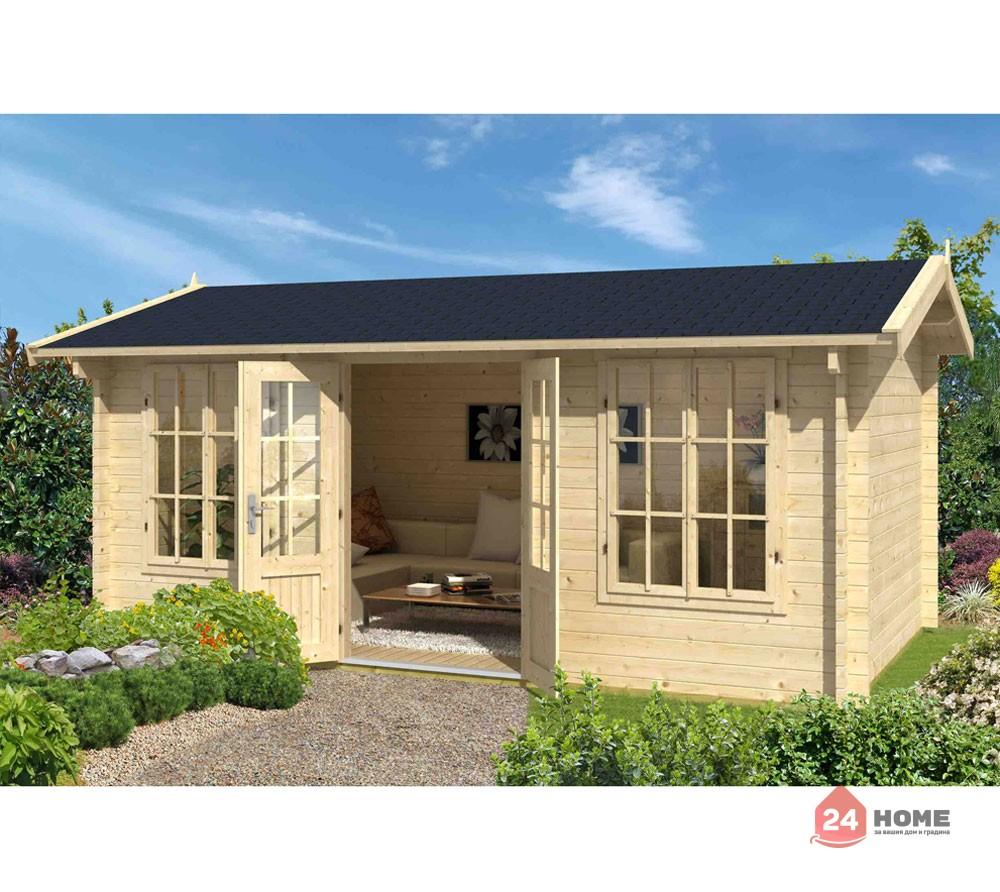 Дървена-къща-Пемброкшир-5х3-м-44-мм-натурално-дърво-1
