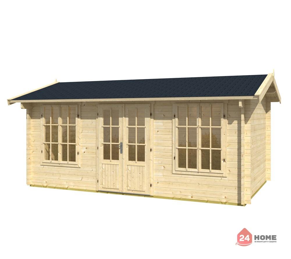 Дървена-къща-Пемброкшир-5х3-м-44-мм-натурално-дърво
