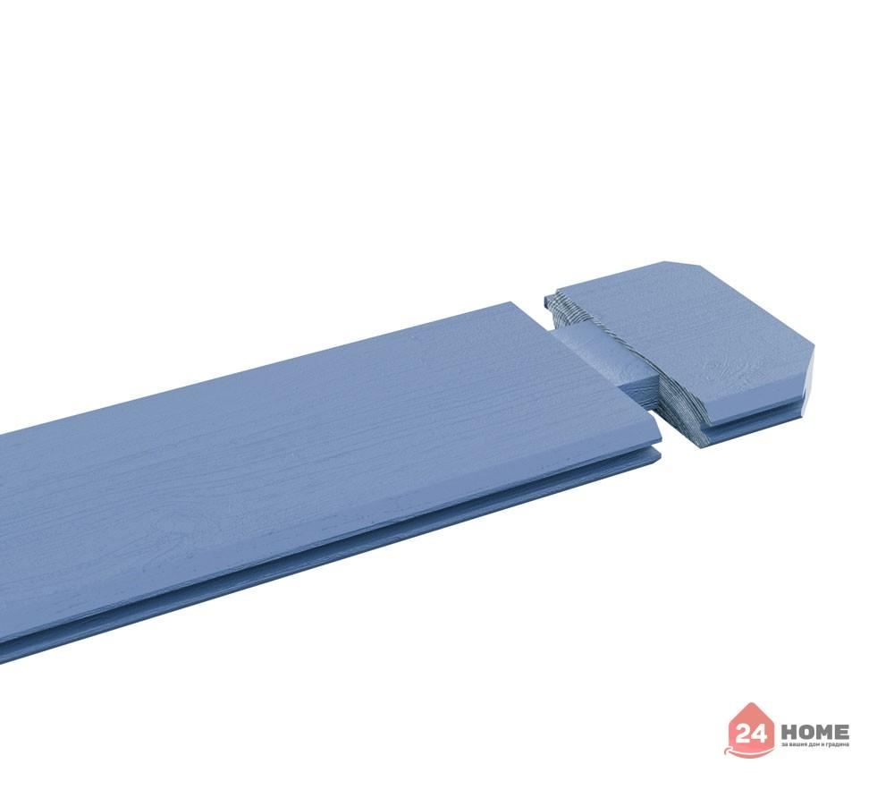 Дървена-къща-Пемброкшир-5х3-м-44-мм-цвят-син