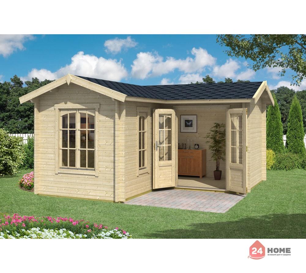 Дървена-къща-Портсмут-4.5х4.5-м-натурално-дърво-1