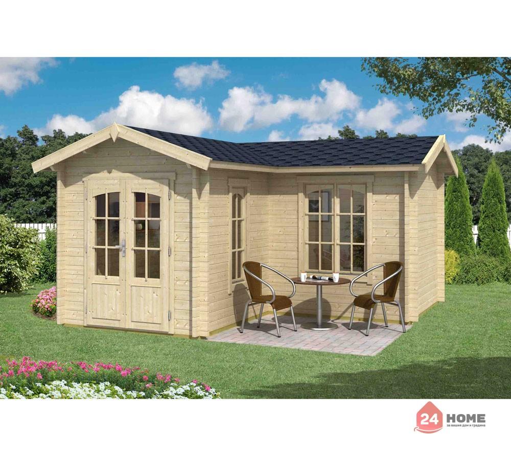 Дървена-къща-Портсмут-4.5х4.5-м-натурално-дърво-2
