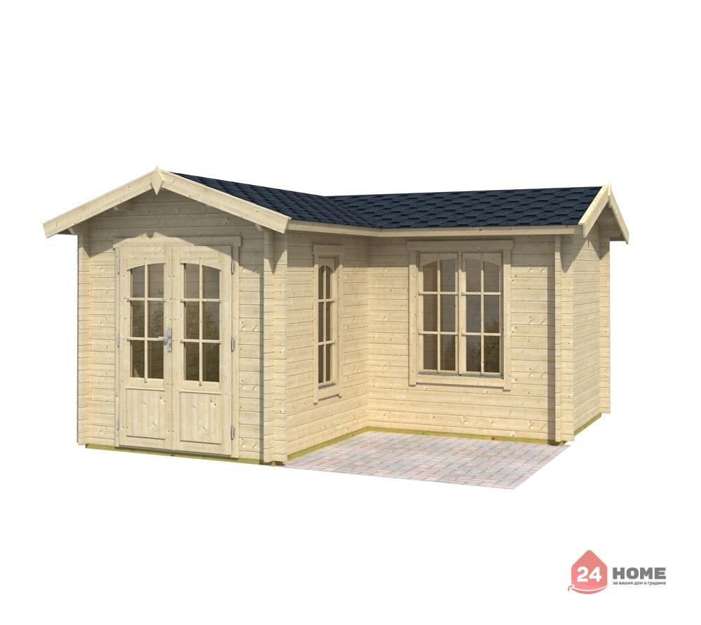Дървена-къща-Портсмут-4.5х4.5-м-натурално-дърво