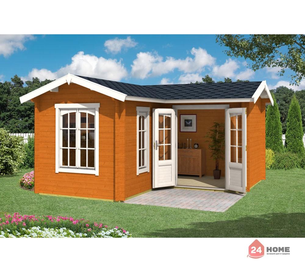 Дървена-къща-Портсмут-4.5х4.5-м-цвят-дъб-1