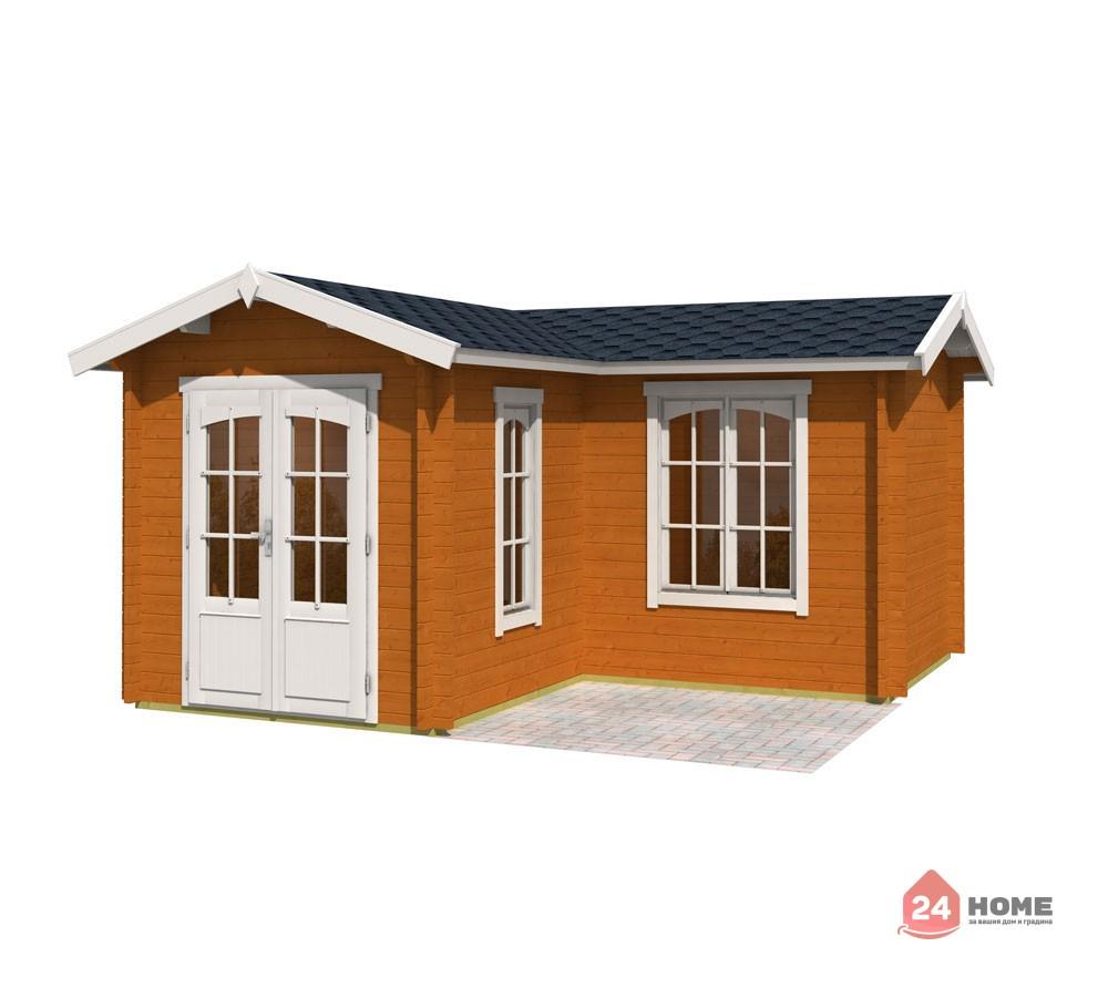 Дървена-къща-Портсмут-4.5х4.5-м-цвят-дъб