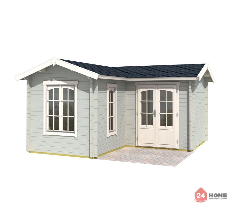 Дървена-къща-Портсмут-4.5х4.5-м-цвят-светло-синьо-1