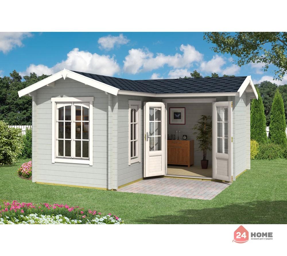 Дървена-къща-Портсмут-4.5х4.5-м-цвят-светло-синьо