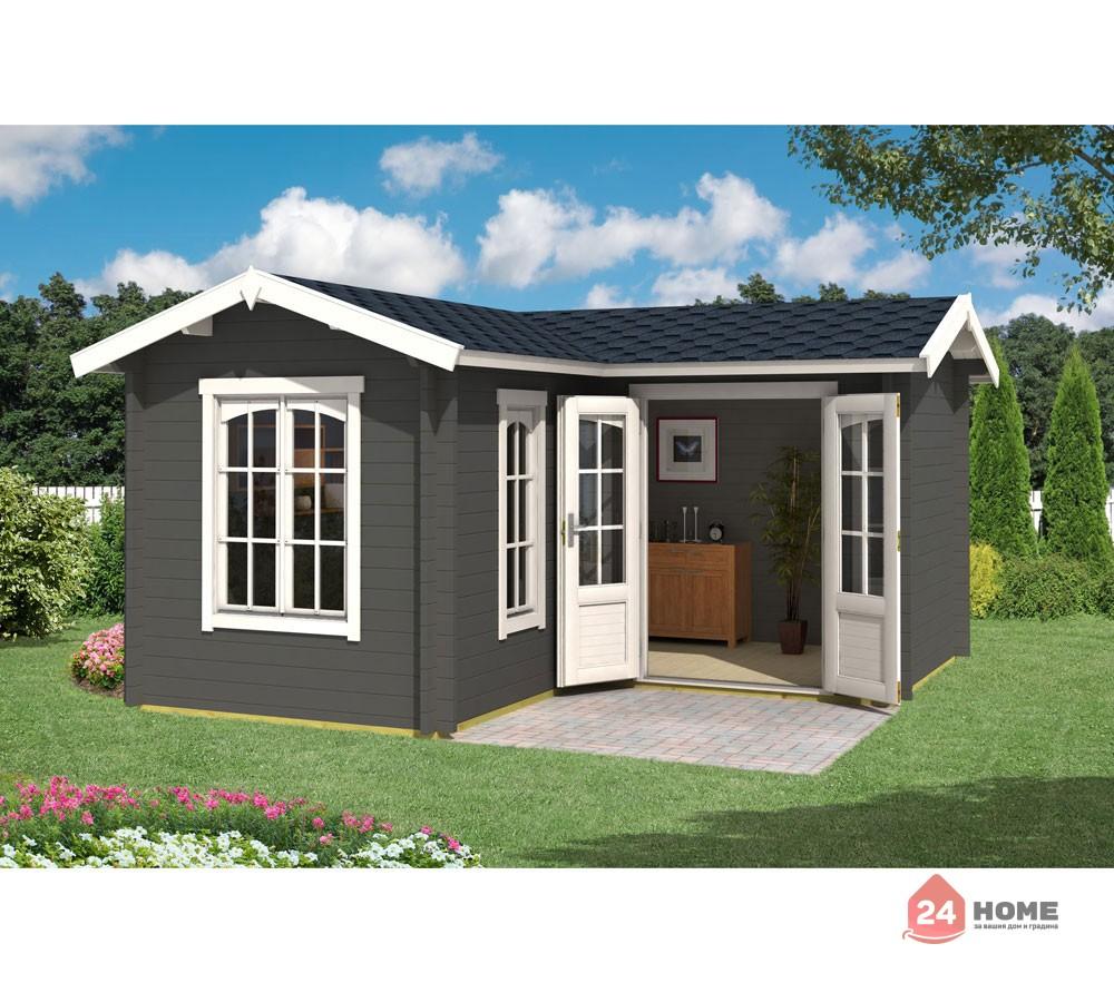 Дървена-къща-Портсмут-4.5х4.5-м-цвят-сив-карбон