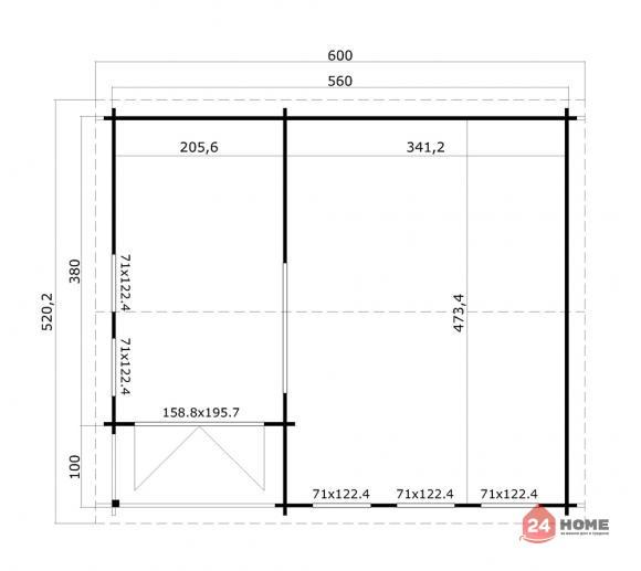 Дървена-къща-Шри-Ланка-6х5-м-44-мм-3