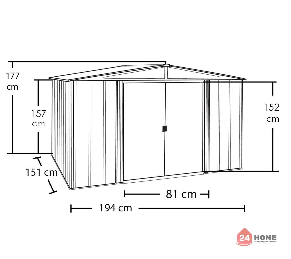 Градинска-барака-за-инструменти-Spacemaker-имитация-на-дърво-smwl65-6