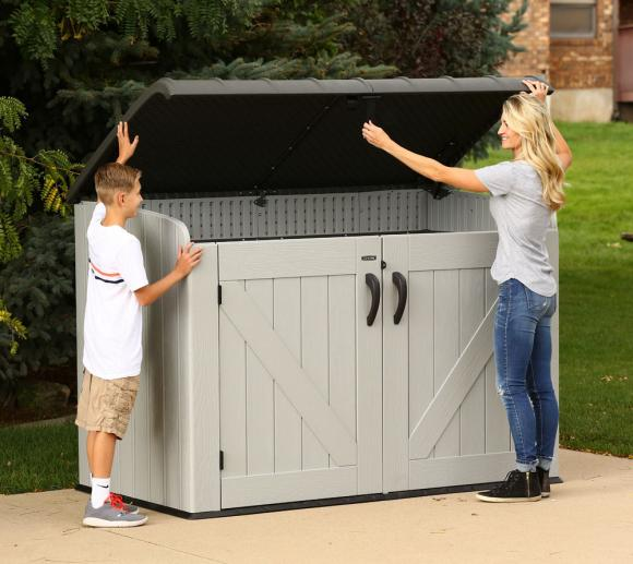 Градинска-барака-за-съхранение-боклук-Lifetime-XXL-сива-191x107-cm-6