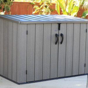 Lifetime – XXL пластмасова кутия за смет, кутия за устройства, кутия за съхранение тъмно сива 107х197 см-2