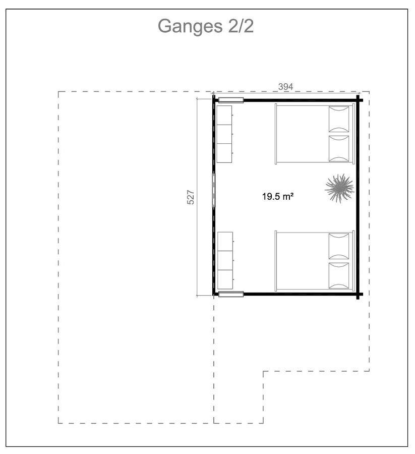 Дървена-къща-Ганг-8.3х8.9-м-70-мм-Смърч-натурално-дърво-4