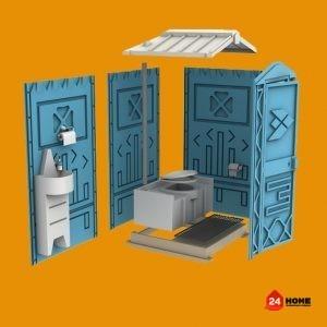 Тоалетна кабина EcoStyle Лукс 110x120x220 cm-3