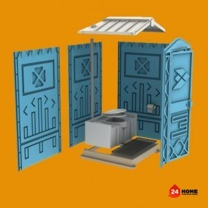 Тоалетна кабина EcoStyle110x120x220 cm
