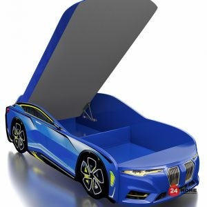 Детско-легло-Romack-Boxter-М-синьо-двуцветна-дамаска-повдигащ-се-матрак-с-ракла