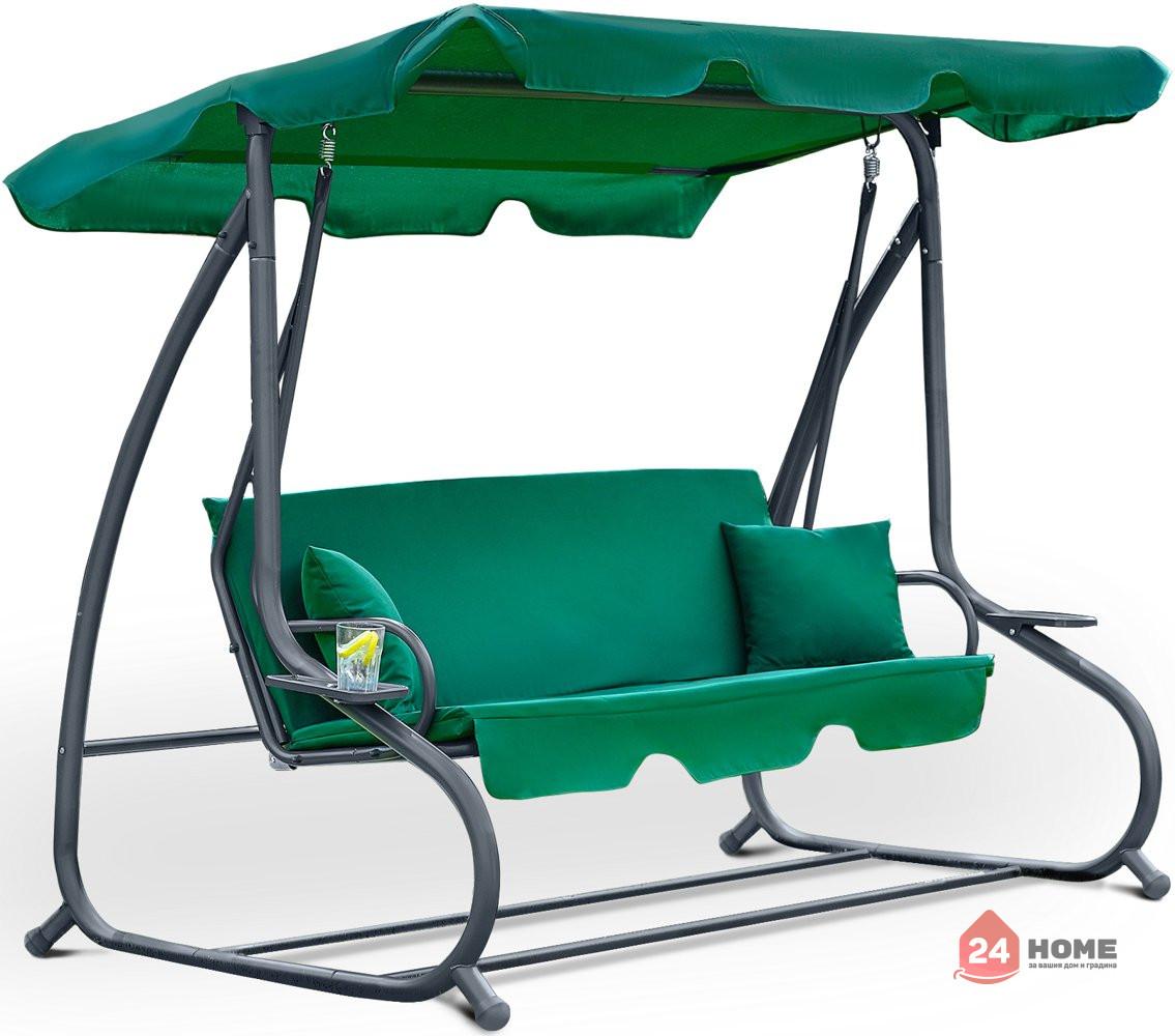 Градинска-люлка-триместна-регулируем-покрив-функция-легло-Relax-Plus-зелена-181_1