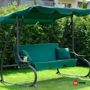 Градинска- люлка-триместна-регулируем-покрив-функция-легло-Relax-Plus-зелена-181_2