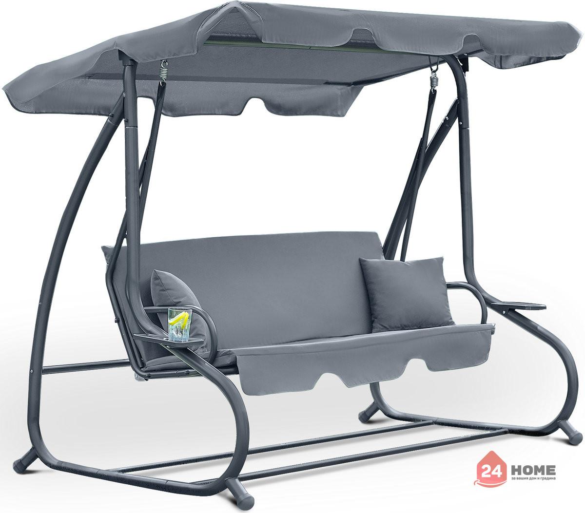Градинска-люлка-триместна-регулируем-покрив-функция-легло-Relax-Plus-сива-1604_6
