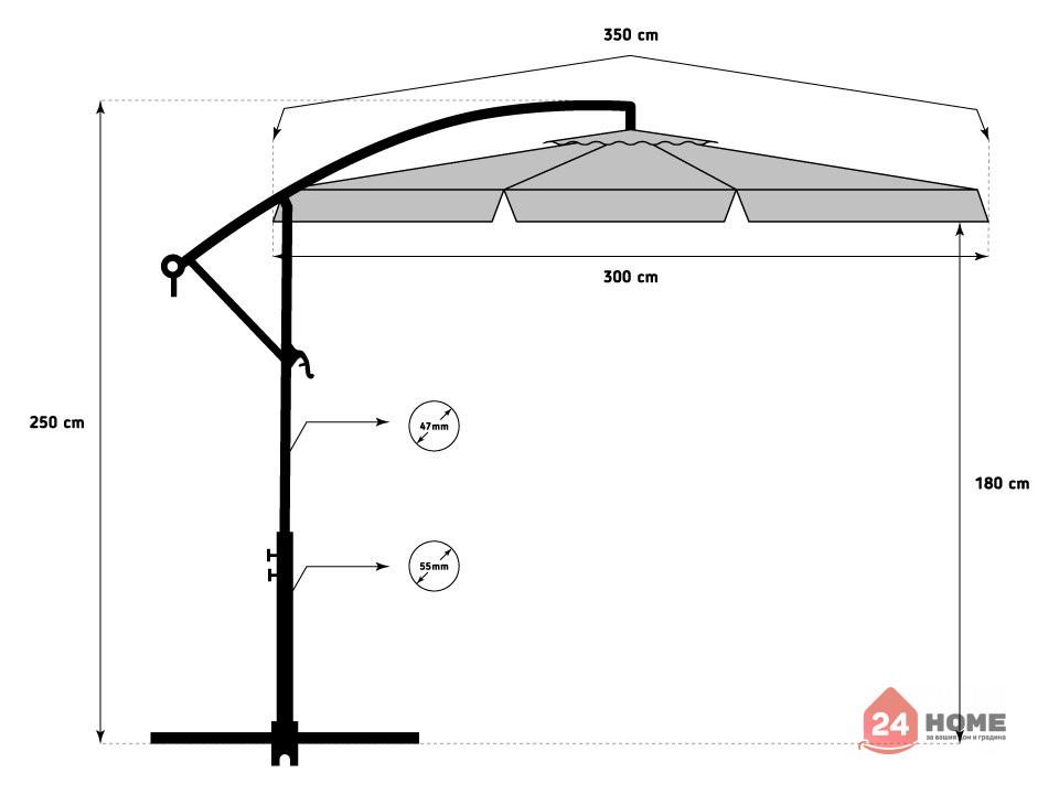 Свободновисящ-чадър-за-слънце-SUNNY-300-см-сив-1621_13